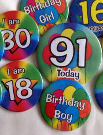 birthday badges