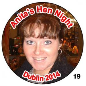 Photo Badges for Hen Nights - circular