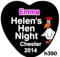 Badges for Hen Nights - Heart Shaped